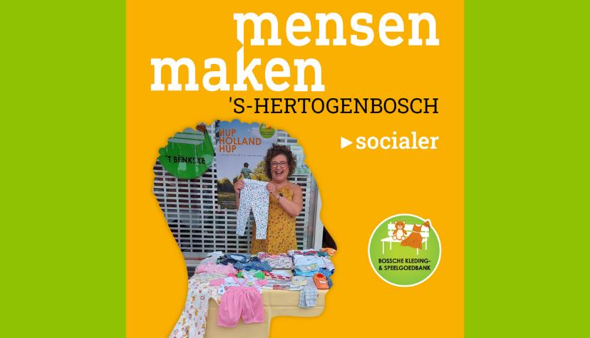 Mensen maken vrijwilligerswerk Bossche Kleding- en Speelgoedbank